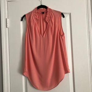 Ann Taylor s/less blouse w/ keyhole front closure